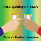 Test all Sparkling water flavors
